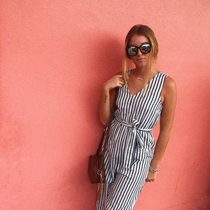 Stripped jumpsuit- WORN ONCE
